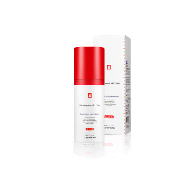 [ TOSOWOONG ] SOS Intensive Red Clinic Ovalicin Skin Clear Toner 80ml