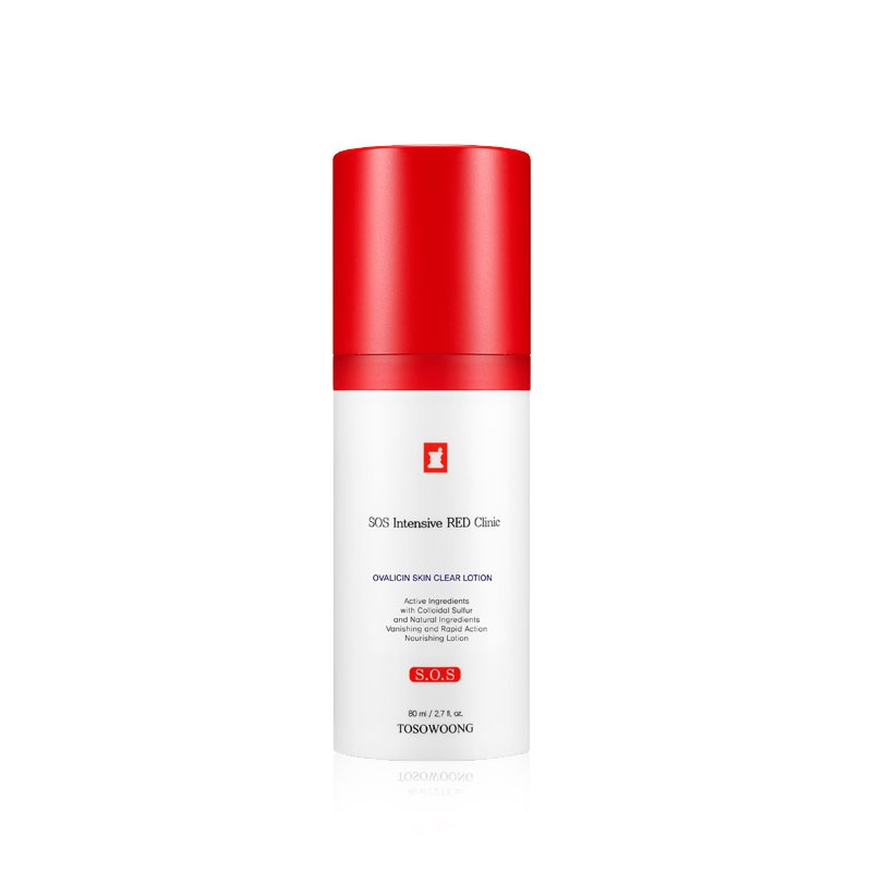 [ TOSOWOONG ] SOS Intensive Red Clinic Ovalicin Skin Clear Losyon